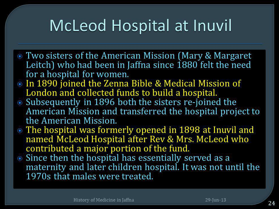 McLeod Hospital at Inuvil