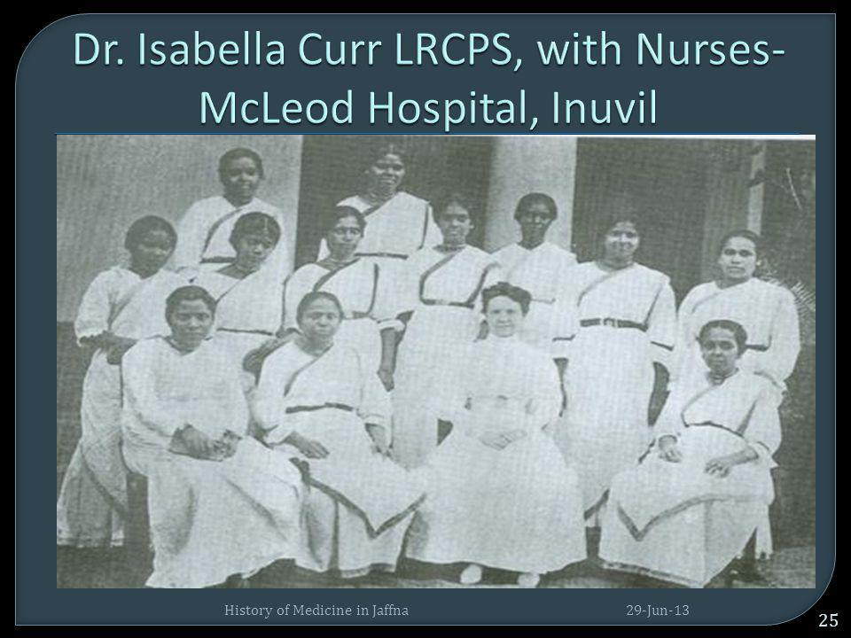 Dr. Isabella Curr LRCPS, with Nurses- McLeod Hospital, Inuvil