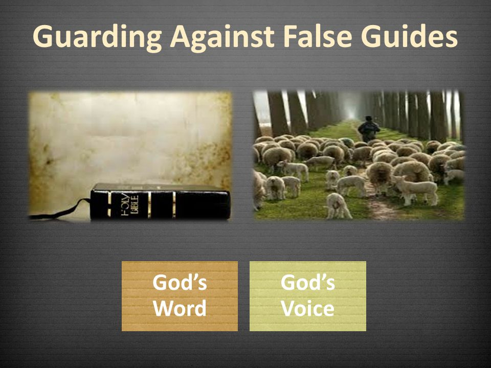 Guarding Against False Guides