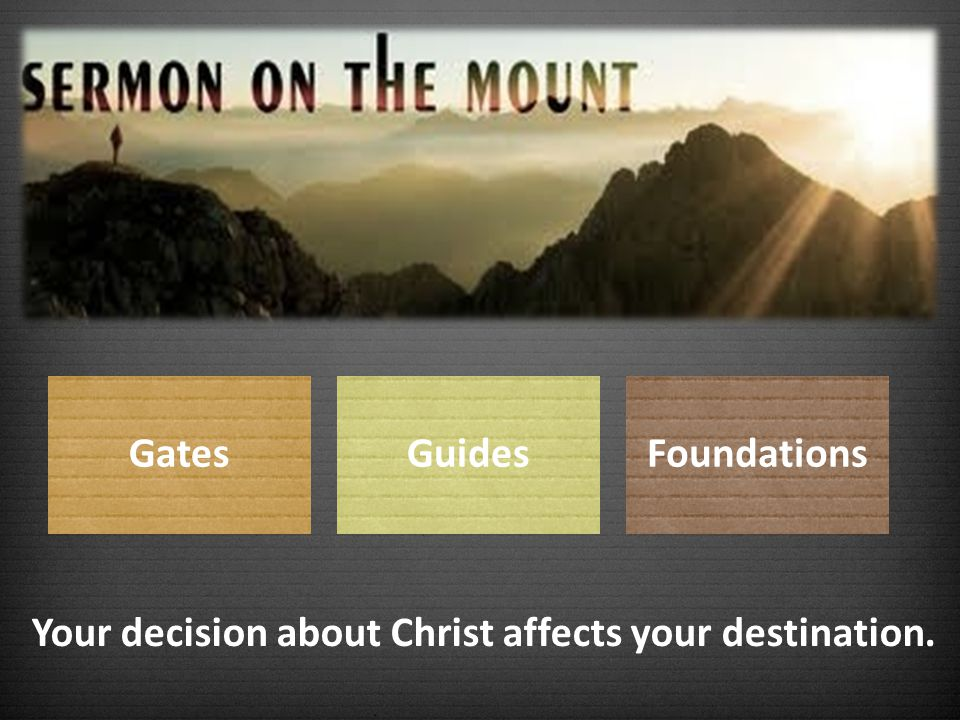 Your decision about Christ affects your destination.