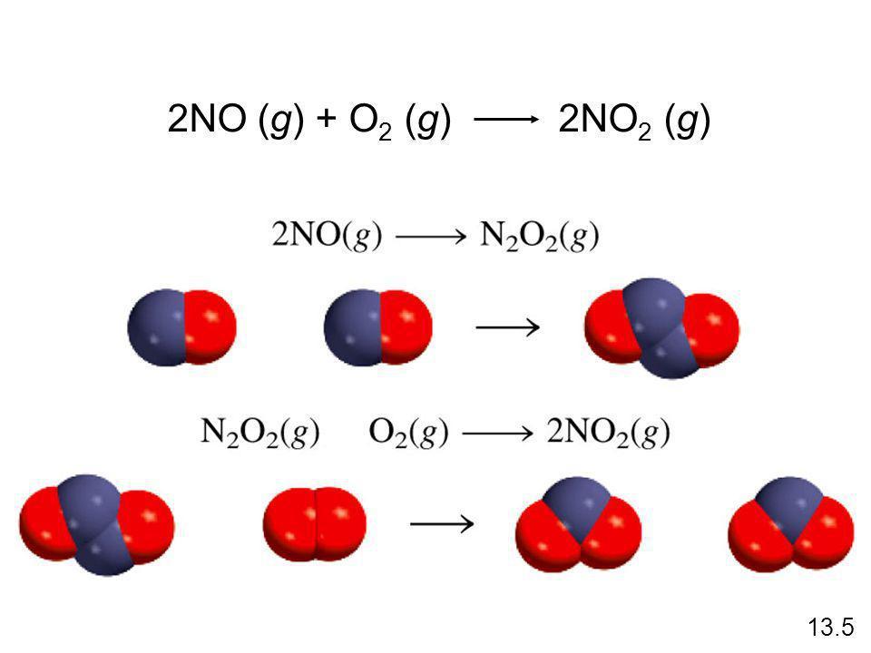 2NO (g) + O2 (g) 2NO2 (g) 13.5