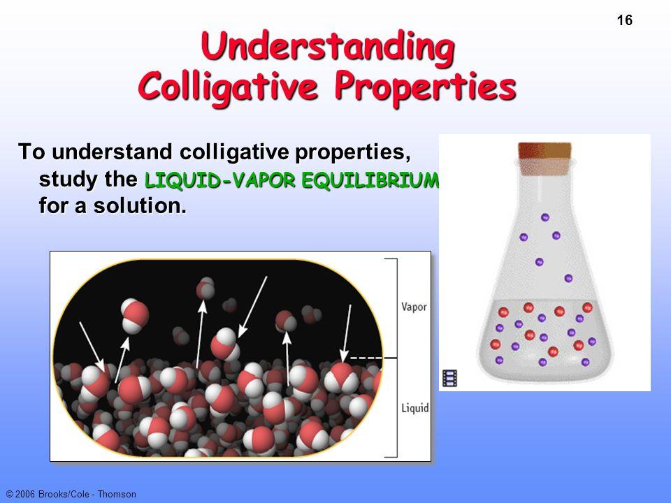 Understanding Colligative Properties
