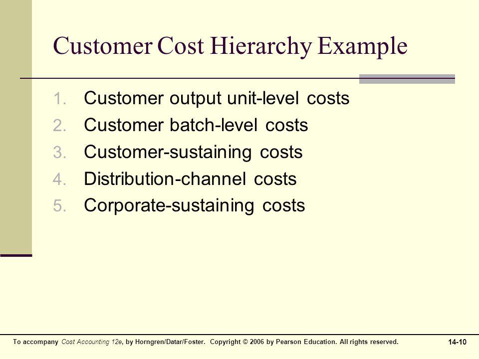 Customer Cost Hierarchy Example