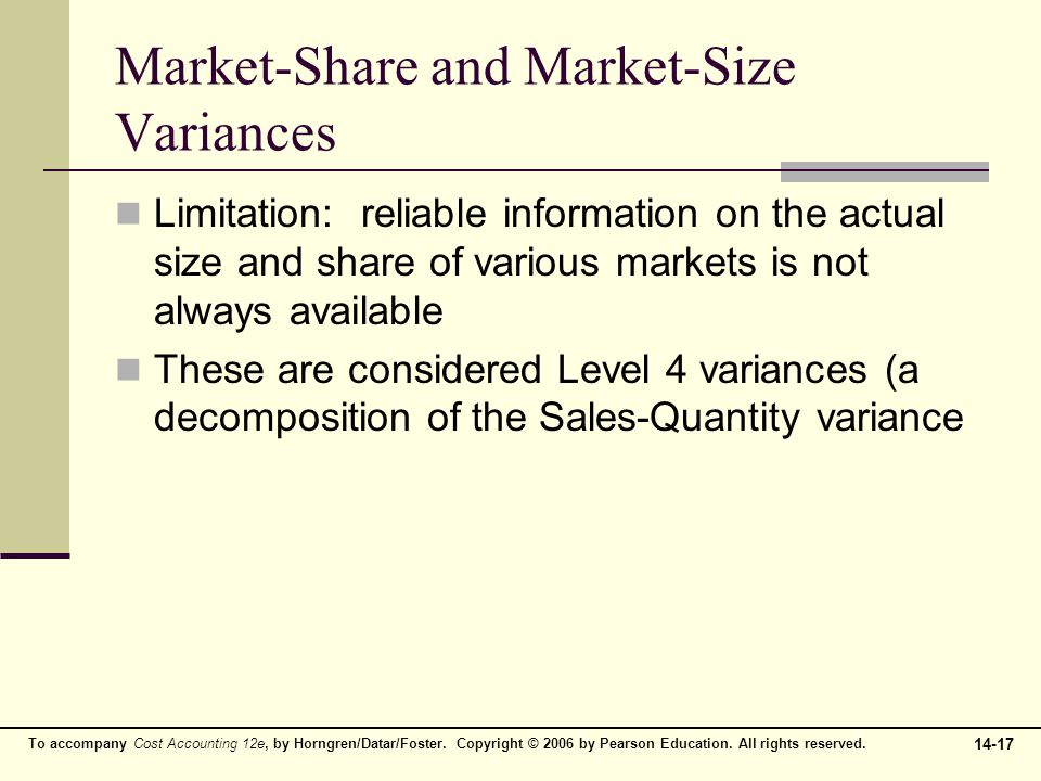 Market-Share and Market-Size Variances