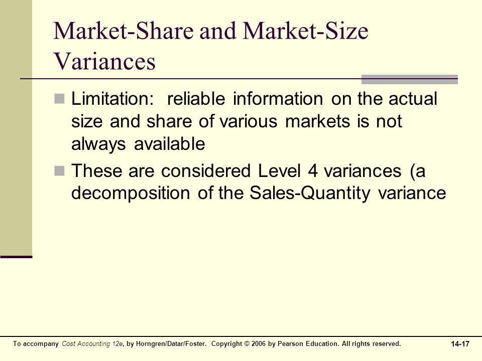 Market-Share and Market-Size Variances