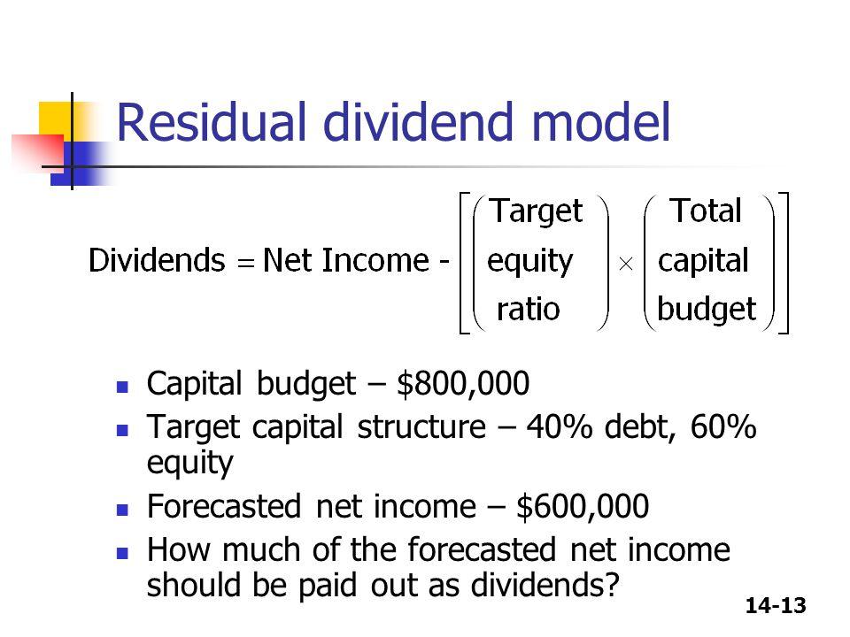 Residual dividend model
