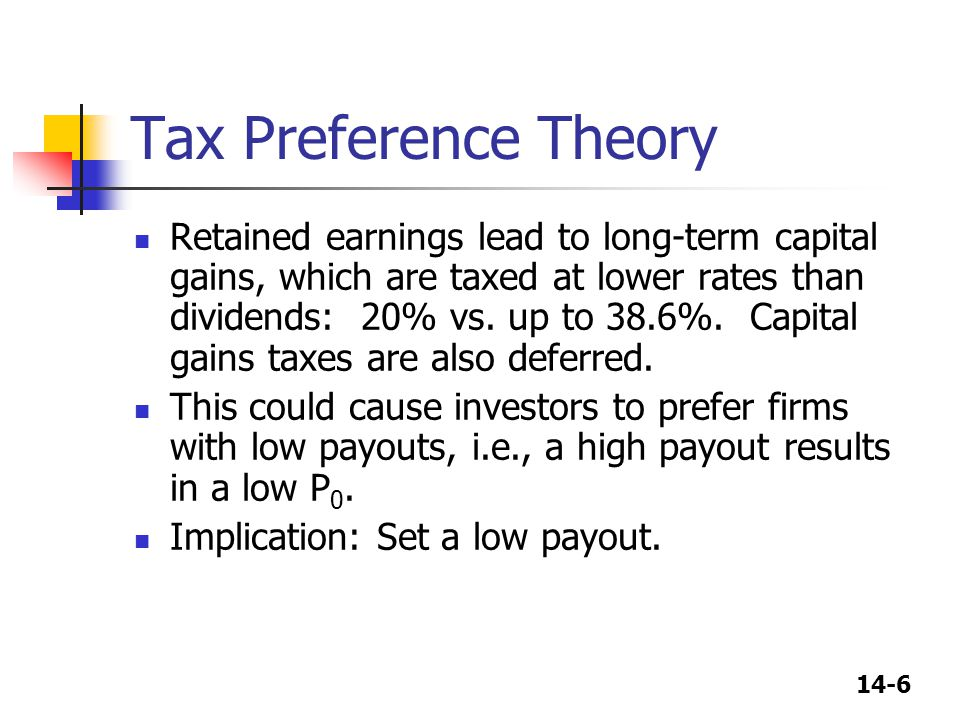 Tax Preference Theory