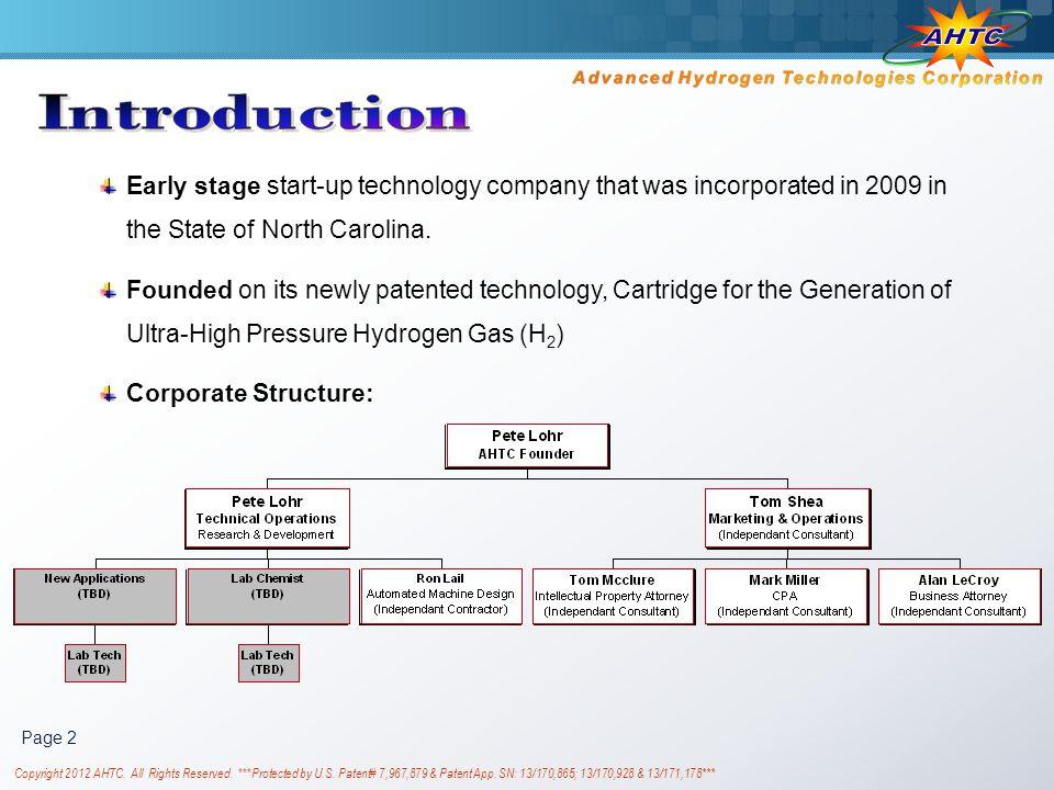 Advanced Hydrogen Technologies Corporation