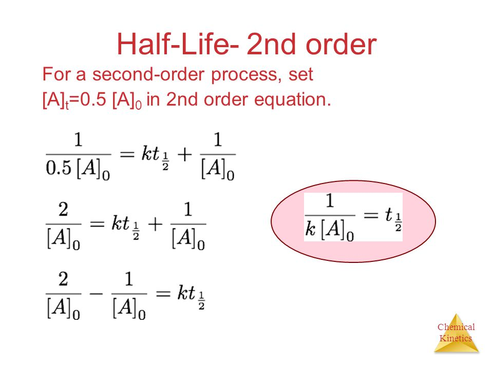 Half-Life- 2nd order For a second-order process, set
