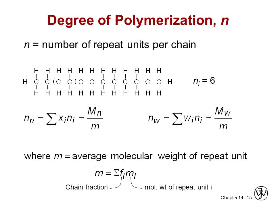 Degree of Polymerization, n