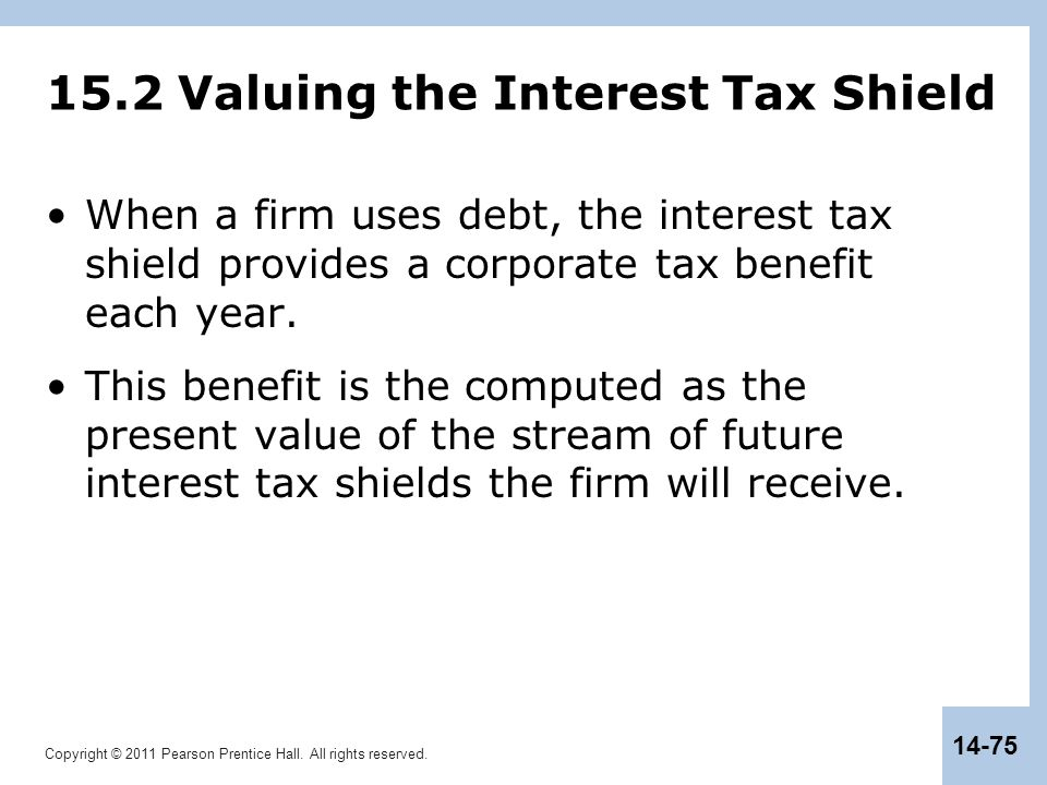 15.2 Valuing the Interest Tax Shield