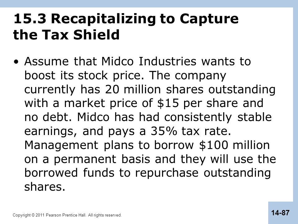 15.3 Recapitalizing to Capture the Tax Shield