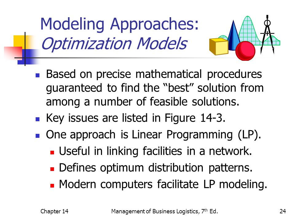Modeling Approaches: Optimization Models