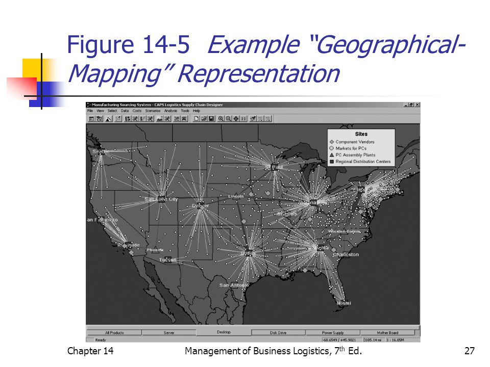 Figure 14-5 Example Geographical-Mapping Representation