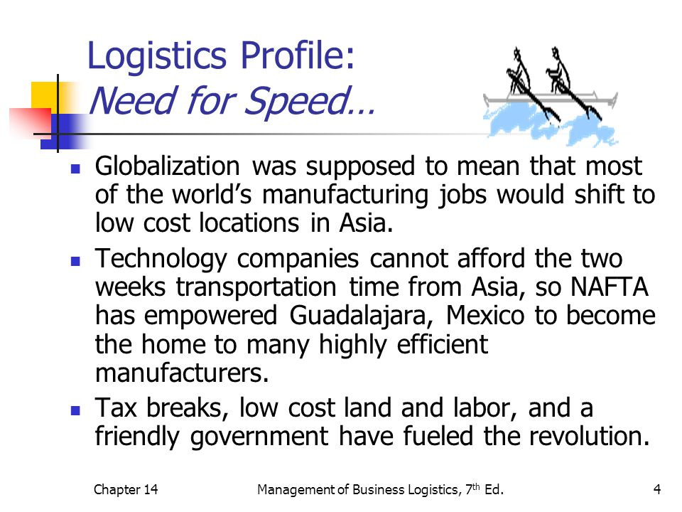 Logistics Profile: Need for Speed…