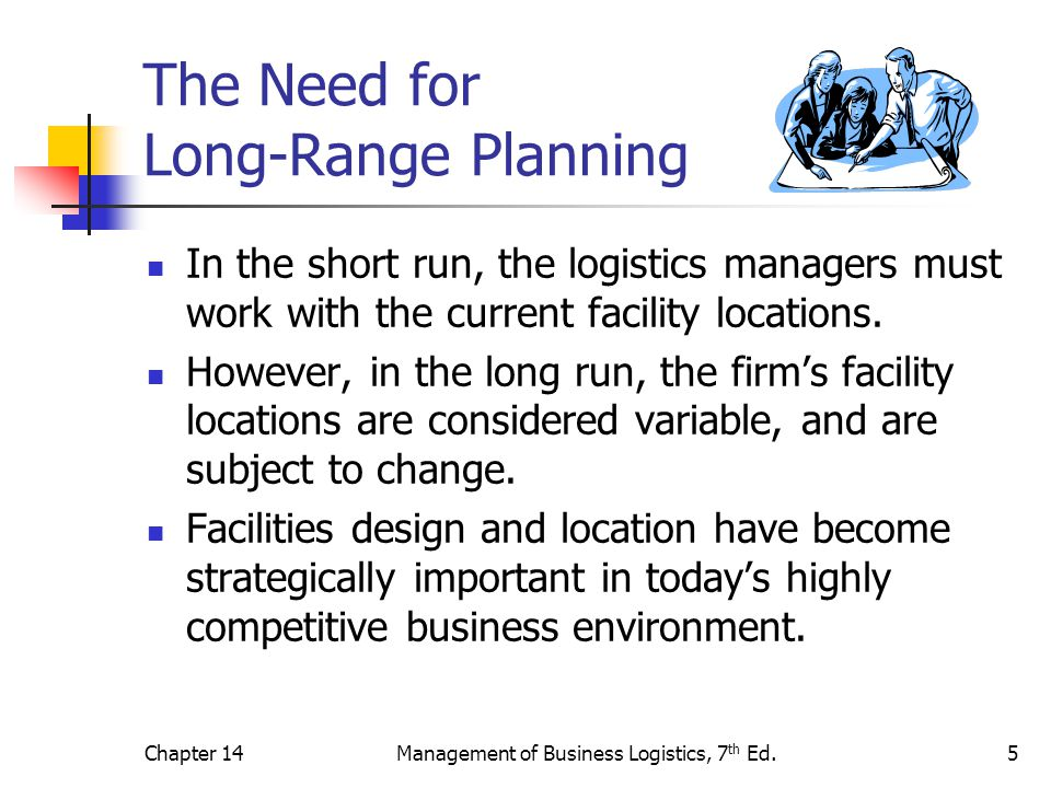 The Need for Long-Range Planning