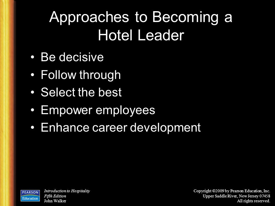 Approaches to Becoming a Hotel Leader