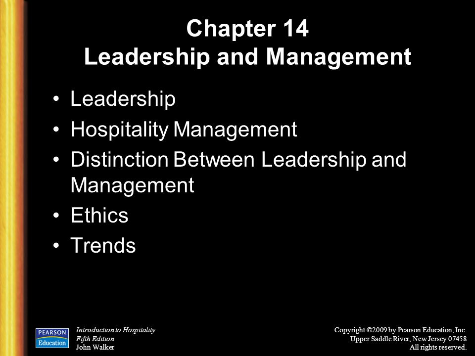 Chapter 14 Leadership and Management