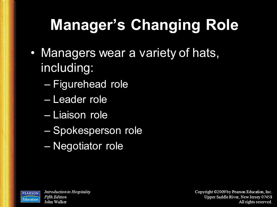 Manager's Changing Role
