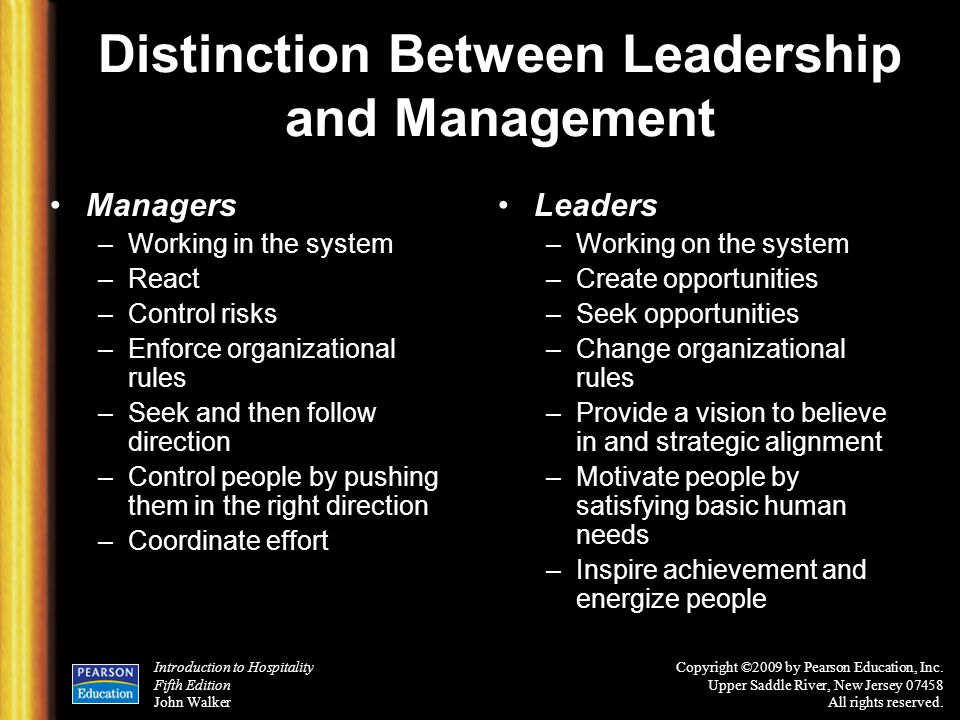 Distinction Between Leadership and Management