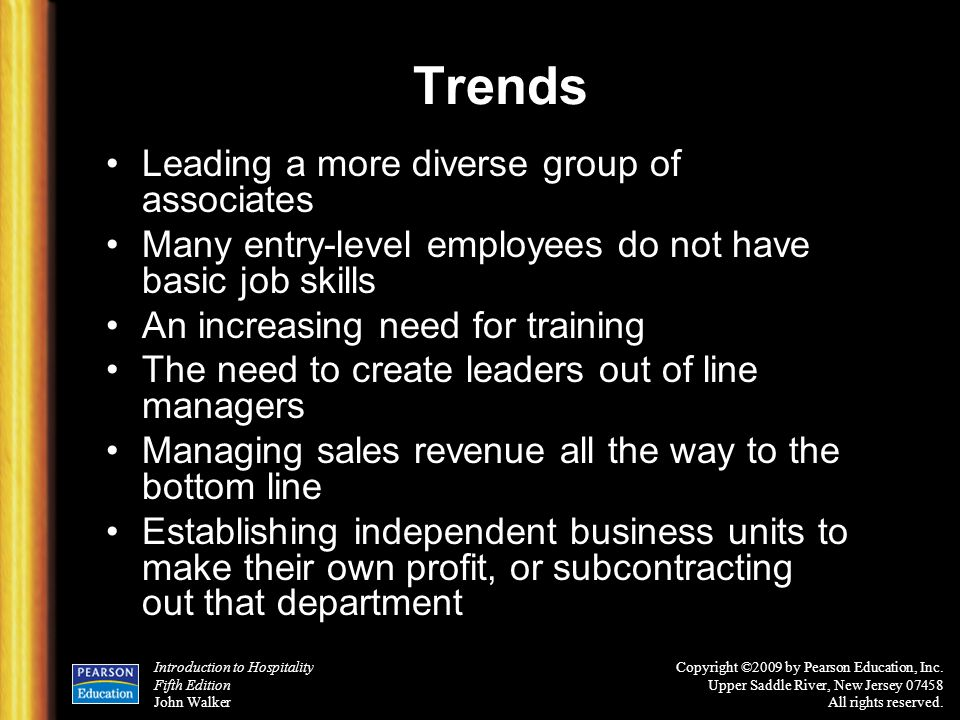 Trends Leading a more diverse group of associates