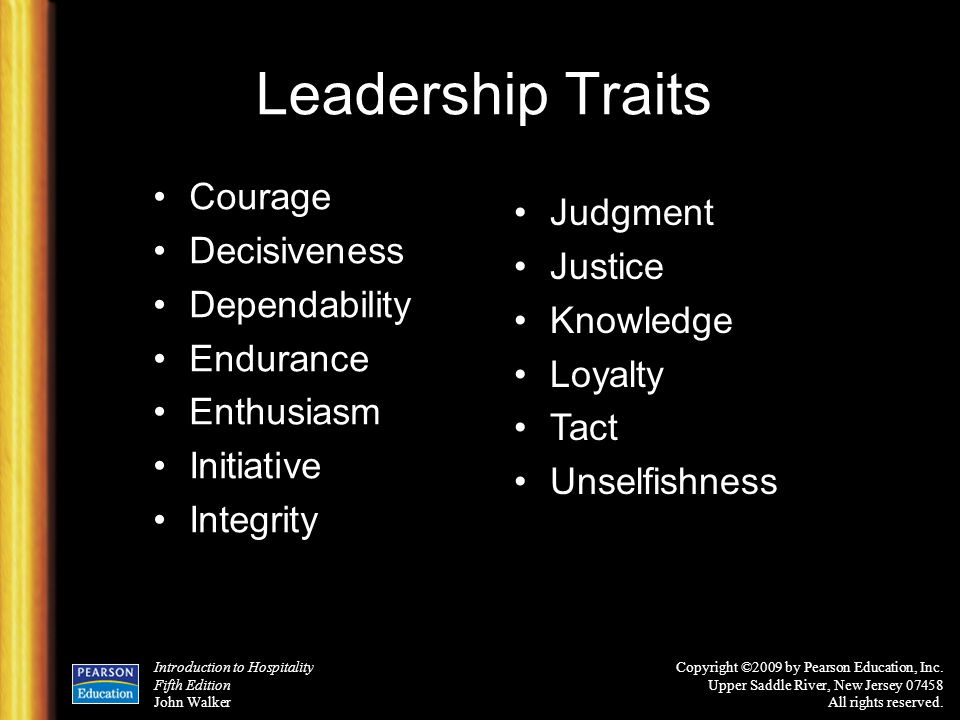 14 leadership traits essay You can be relied upon to perform your duties properly it means that you can be trusted to complete a job it is the willing and voluntary support of the policies and orders of the chain of command.