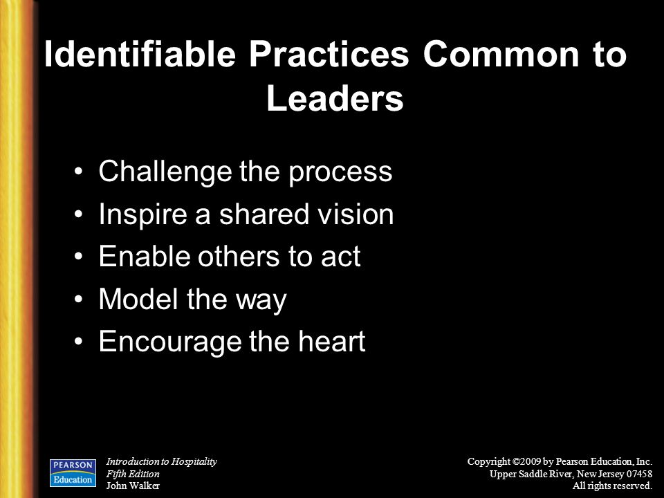 Identifiable Practices Common to Leaders