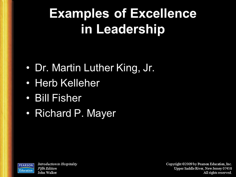 Examples of Excellence in Leadership