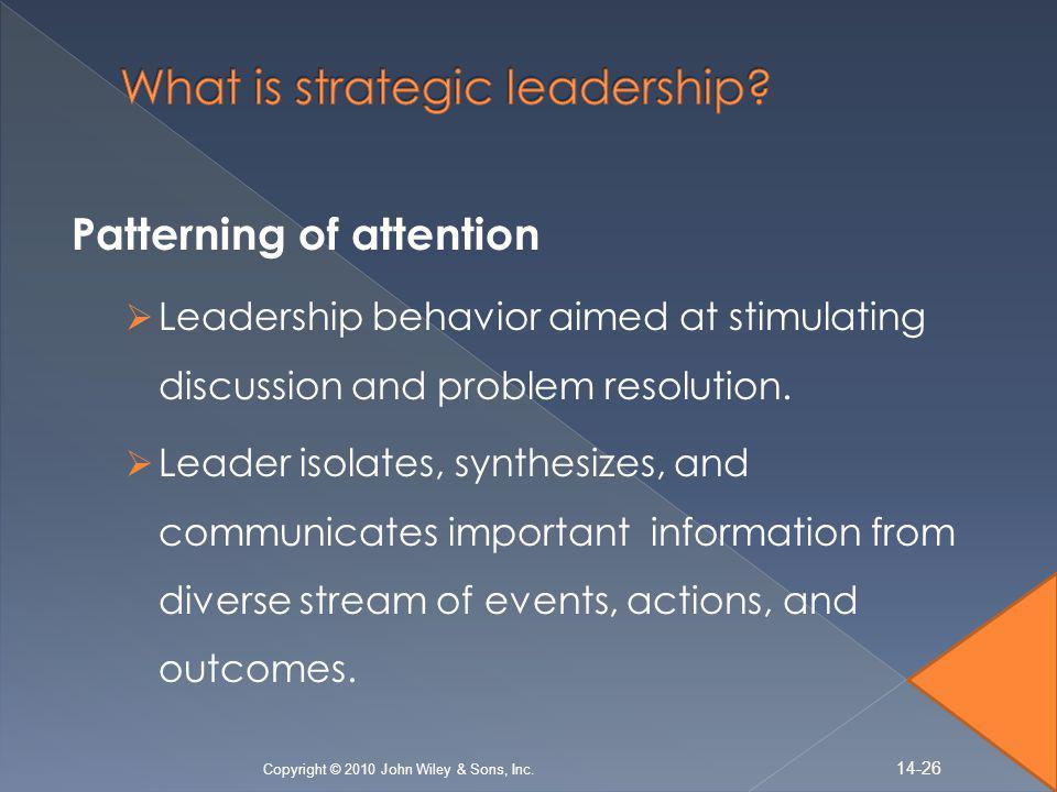 What is strategic leadership