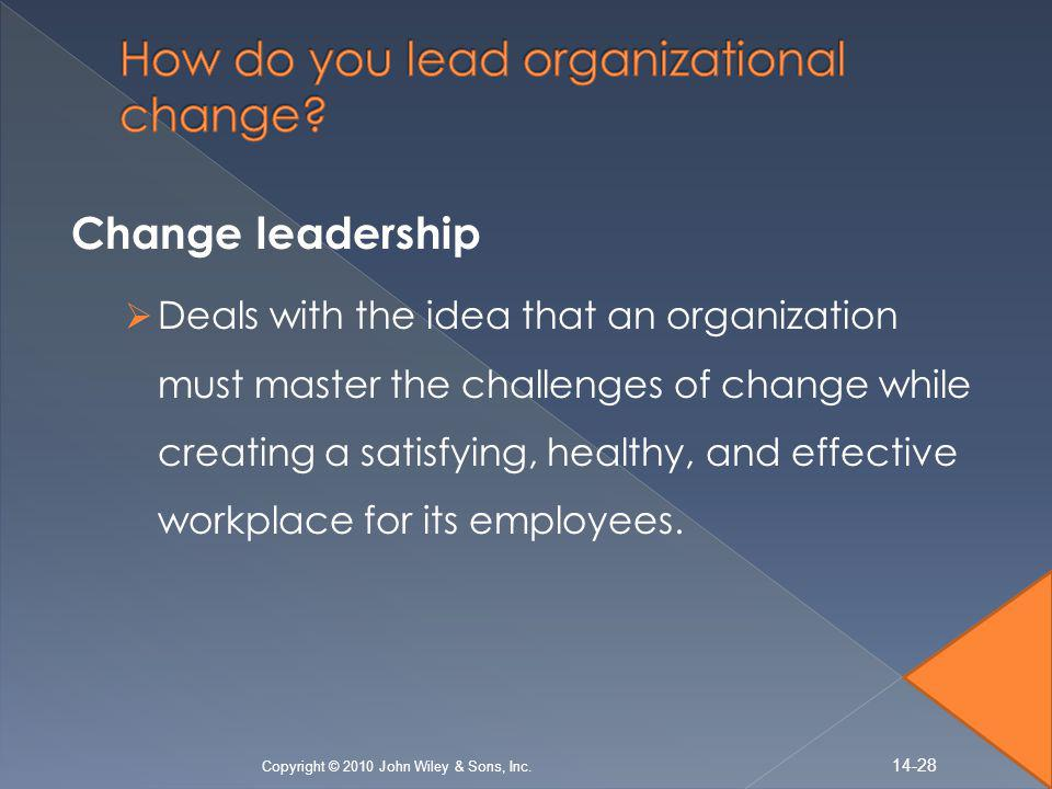 How do you lead organizational change