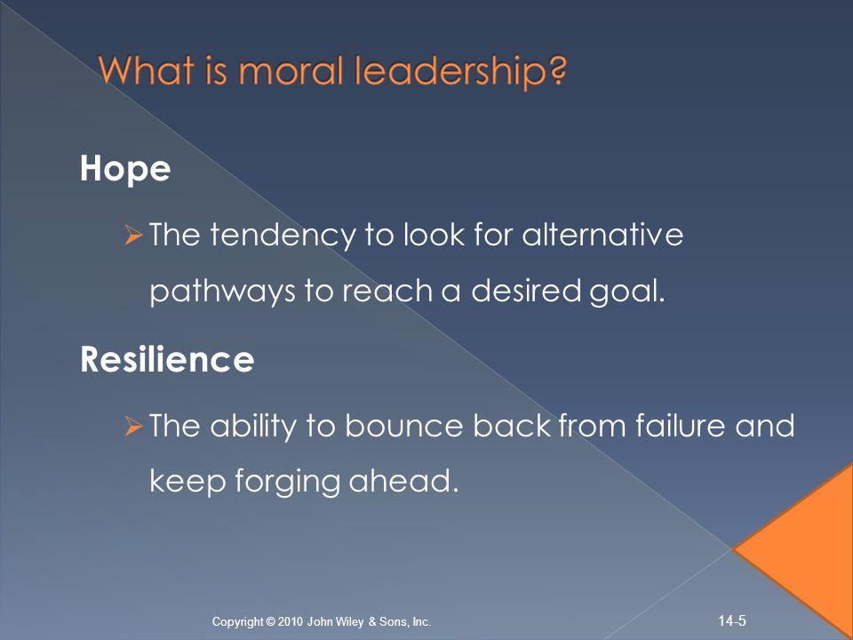 What is moral leadership