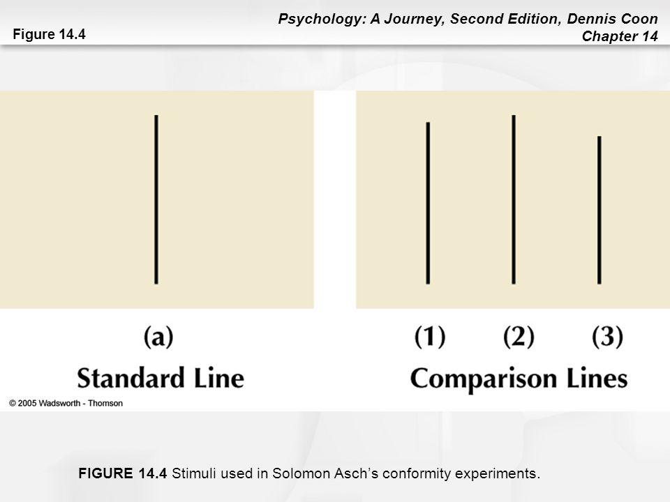 FIGURE 14.4 Stimuli used in Solomon Asch's conformity experiments.