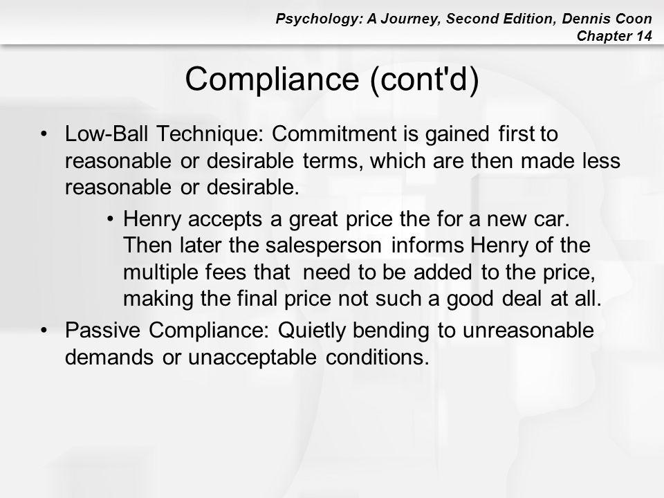 Compliance (cont d)
