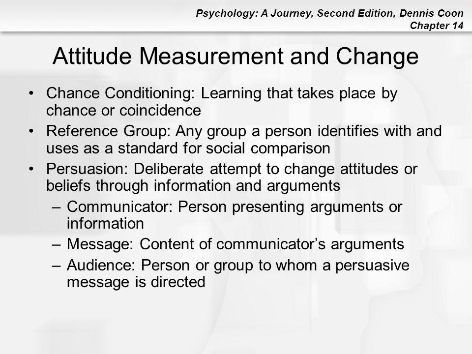 Attitude Measurement and Change
