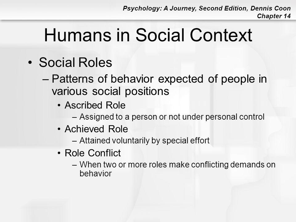 Humans in Social Context