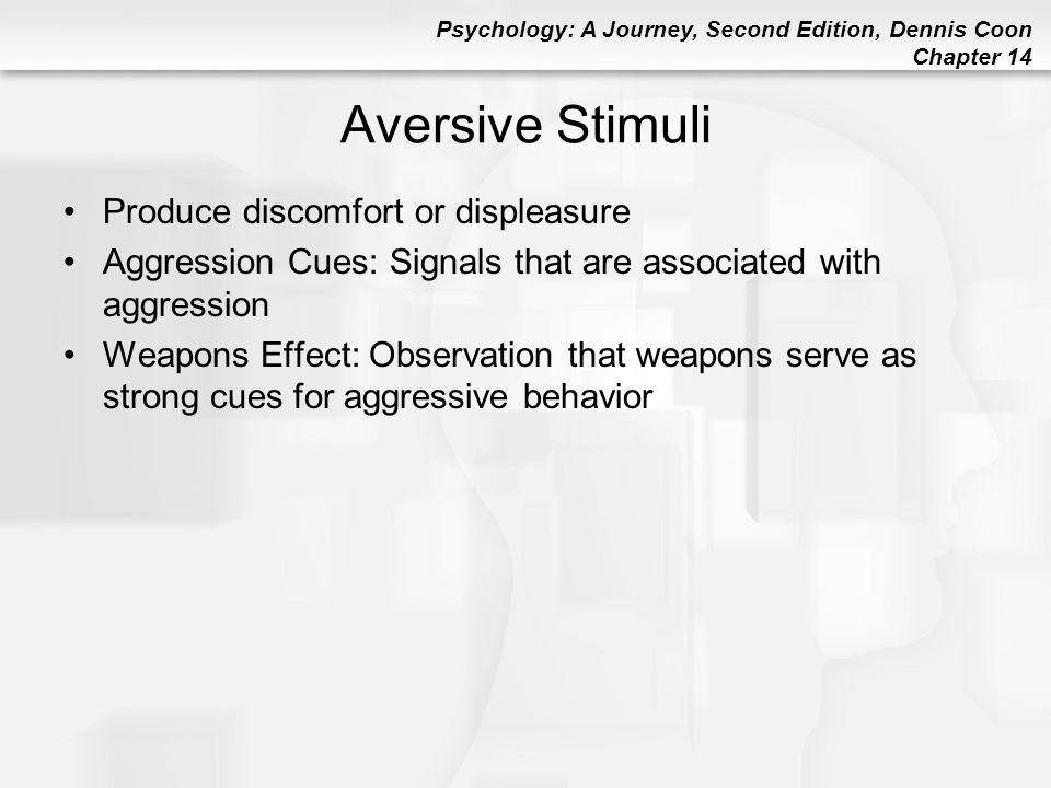 Aversive Stimuli Produce discomfort or displeasure