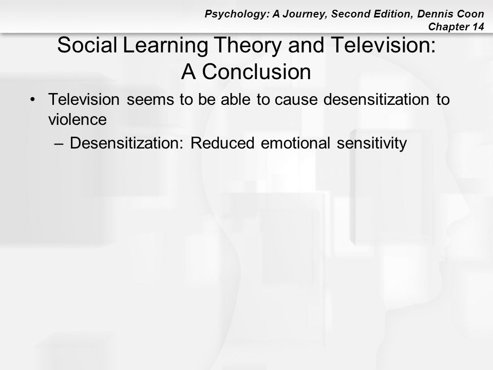 Social Learning Theory and Television: A Conclusion