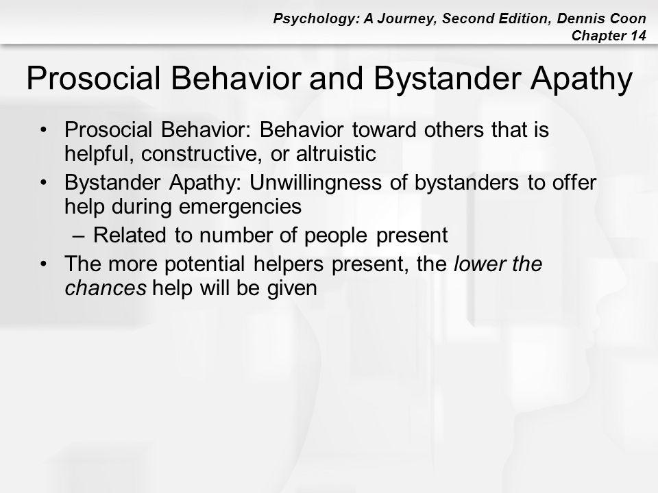 Prosocial Behavior and Bystander Apathy