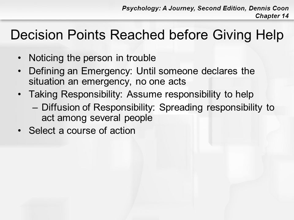 Decision Points Reached before Giving Help