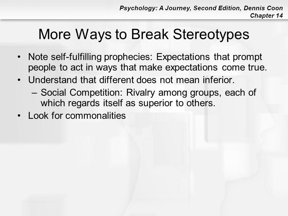 More Ways to Break Stereotypes