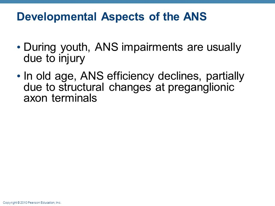 Developmental Aspects of the ANS