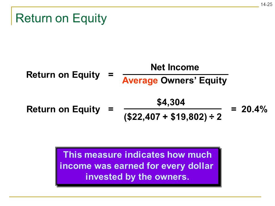 This measure indicates how much income was earned for every dollar