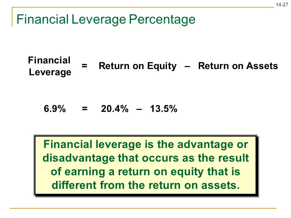 Financial Leverage Percentage