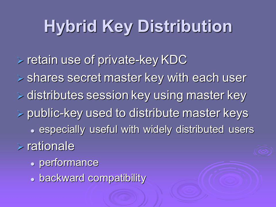 Hybrid Key Distribution