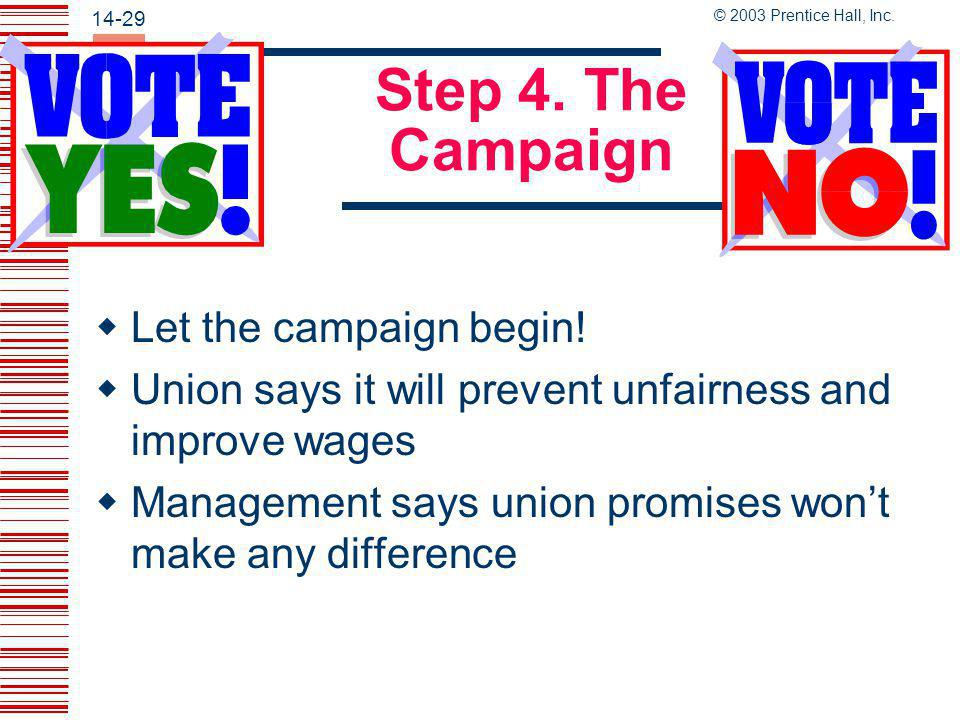 Step 4. The Campaign Let the campaign begin!