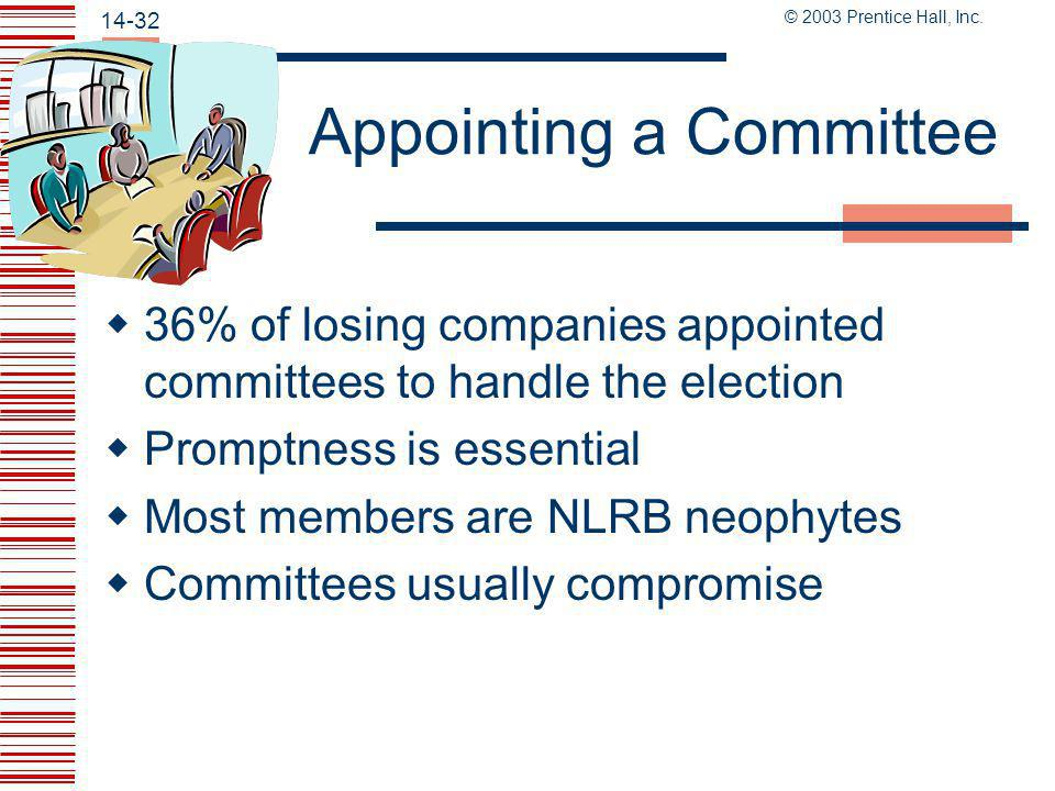 Appointing a Committee