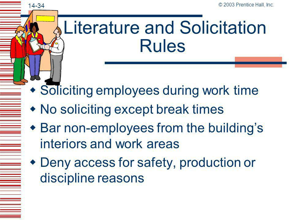 Literature and Solicitation Rules