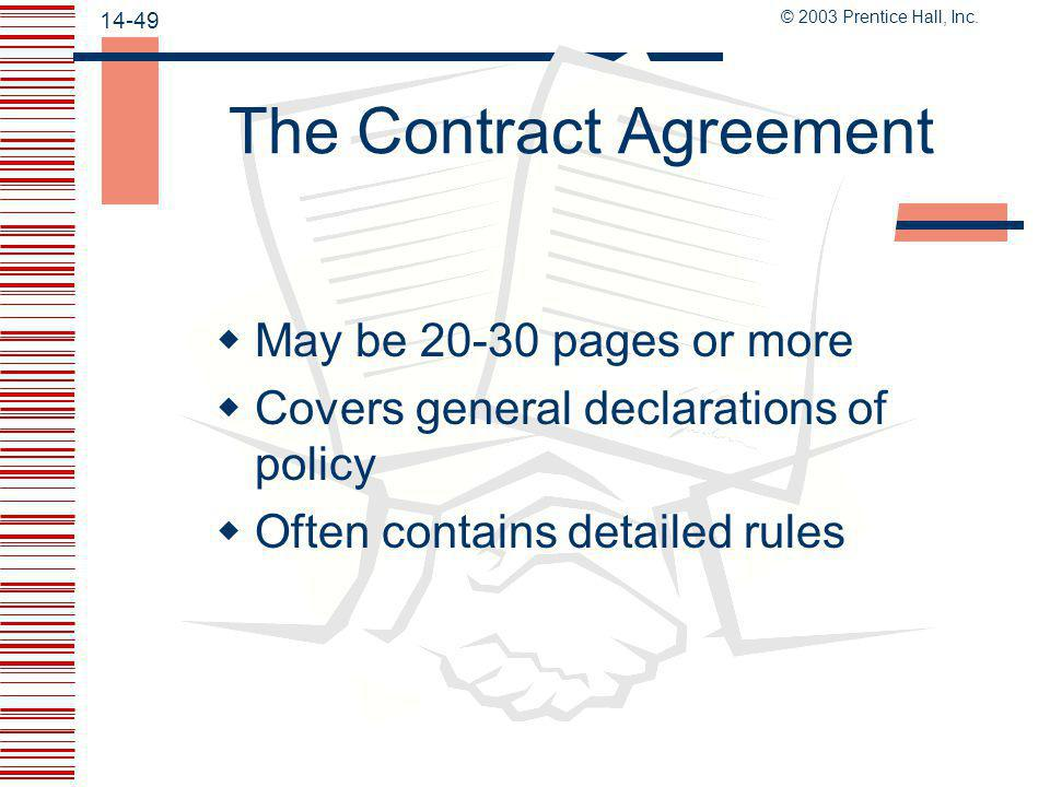 The Contract Agreement