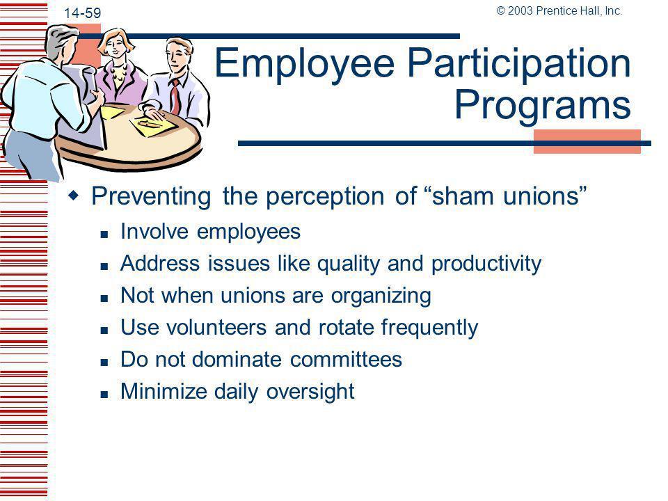 Employee Participation Programs