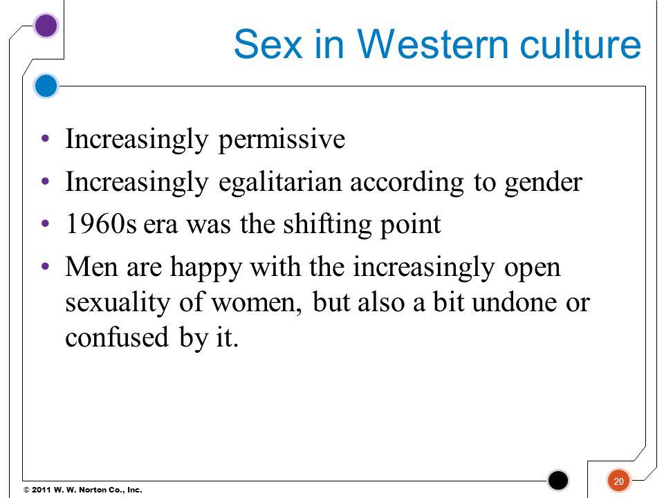 Sex in Western culture Increasingly permissive